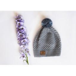 Mütze Texel, grau-blau